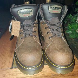 Doc Martens Industrial Steel Toe Brown Boots